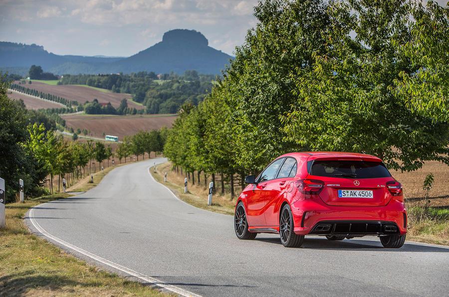 Mercedes-AMG A 45 rear cornering
