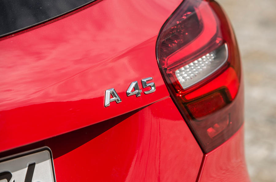 Mercedes-AMG A 45 badging