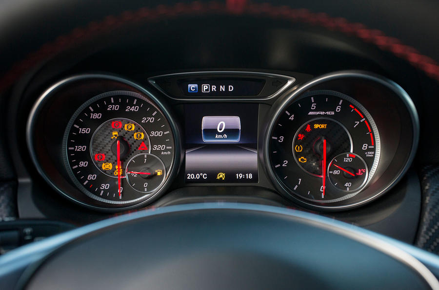 Mercedes-AMG A 45 instrument cluster