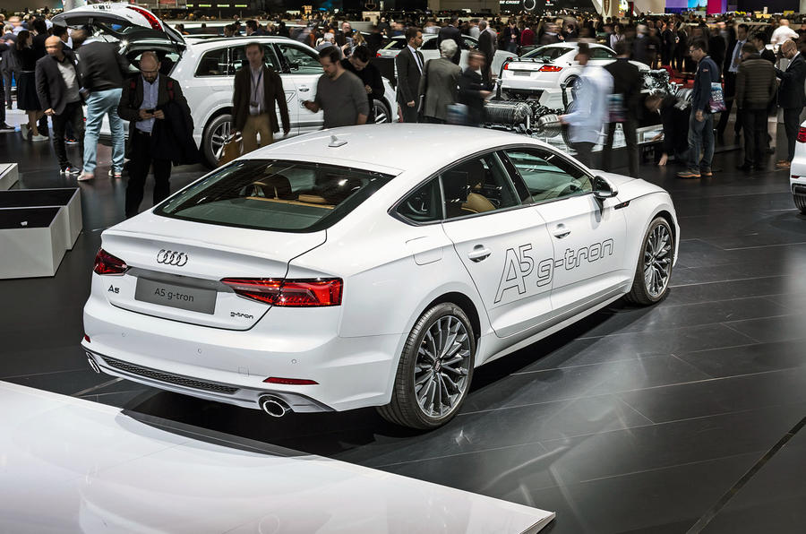 Gas-powered A5 emits 100g/km with a back-up petrol tank