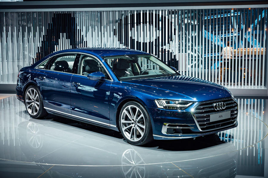 2017 audi a8 revealed as brand 39 s most high tech model yet autocar. Black Bedroom Furniture Sets. Home Design Ideas