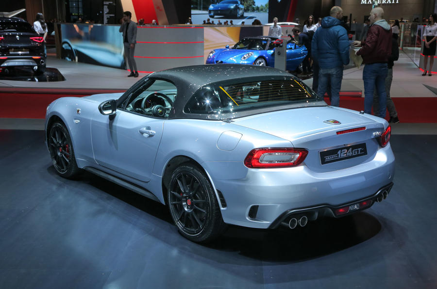 abarth 124 gt revealed with removable hard top autocar. Black Bedroom Furniture Sets. Home Design Ideas