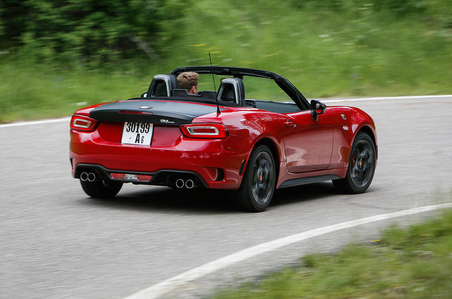 Abarth 124 Spider prototype rear