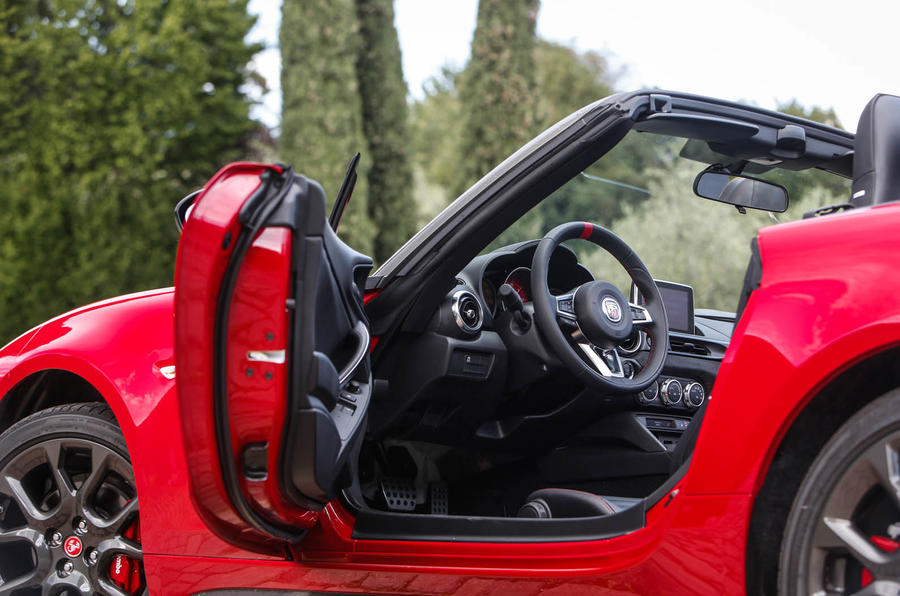 Abarth 124 Spider prototype interior