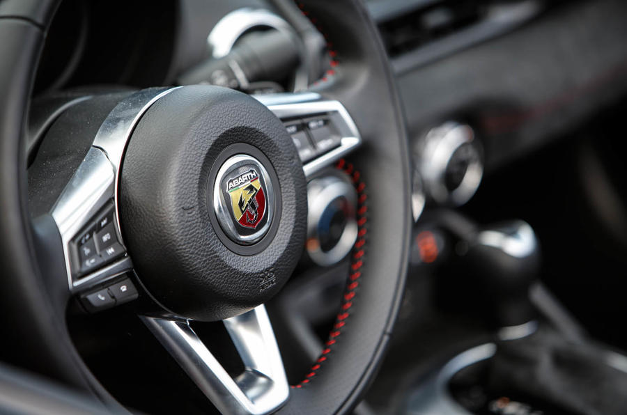 Abarth 124 Spider prototype steering wheel