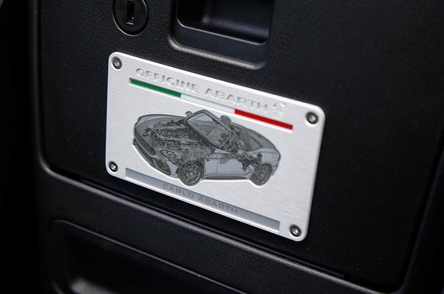 Abarth 124 Spider prototype plaque
