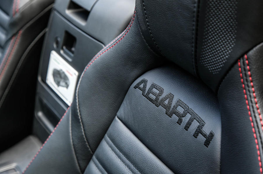 Abarth 124 Spider prototype stitched seats