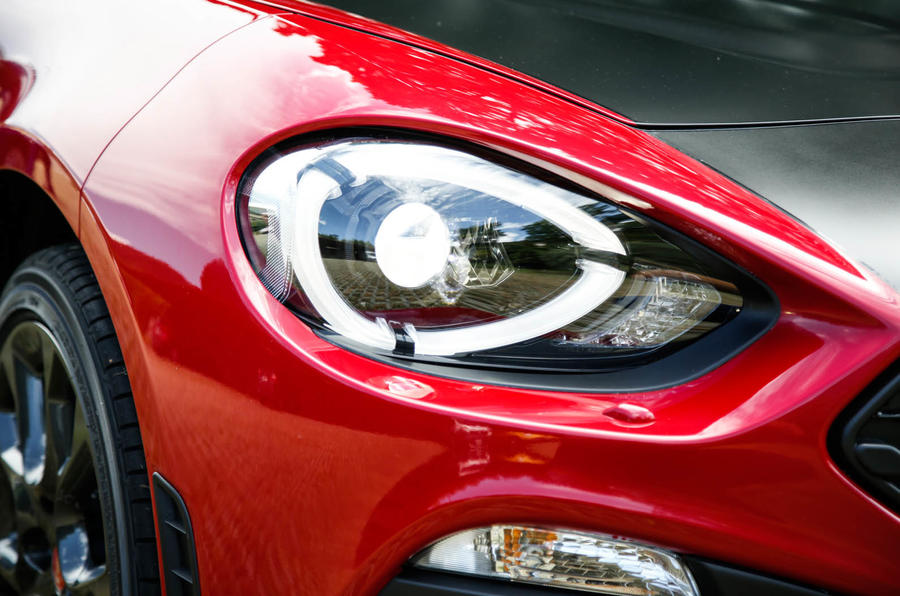 Abarth 124 Spider prototype headlight