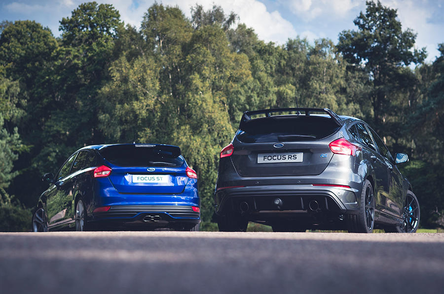 The Ford Focus ST and the Focus RS are two sides of the same coin