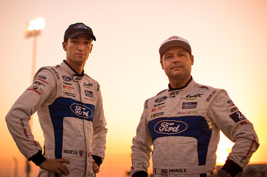 Harry Tincknell has a close working relationship with Ford FIA WEC team-mate Andy Priaulx