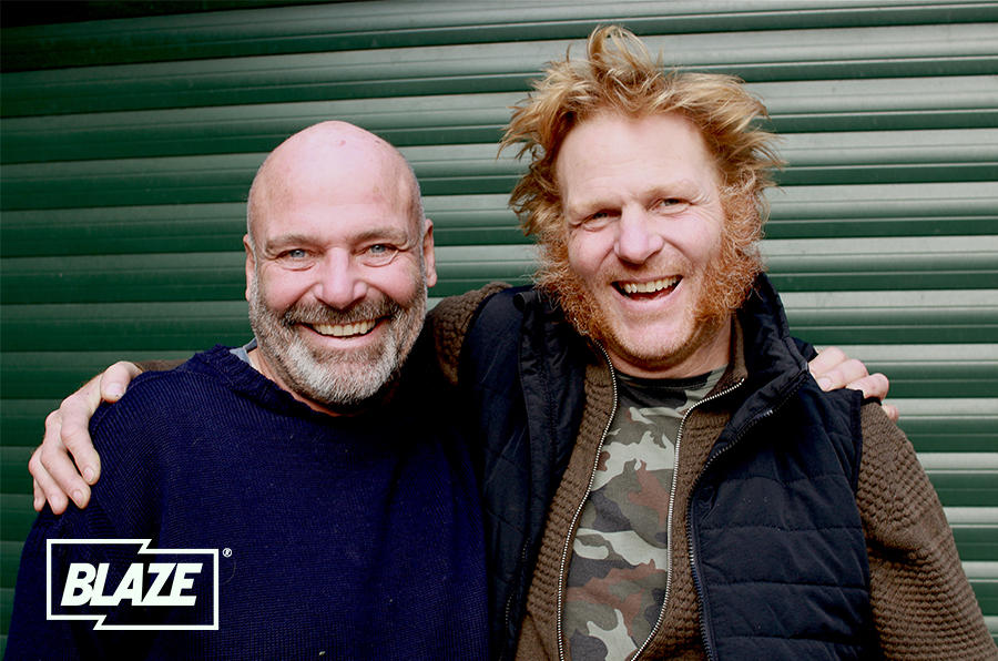 The key to Flipping Bangers' success is the relationship between presenters Gus Gregory (left) and Will Trickett (right)