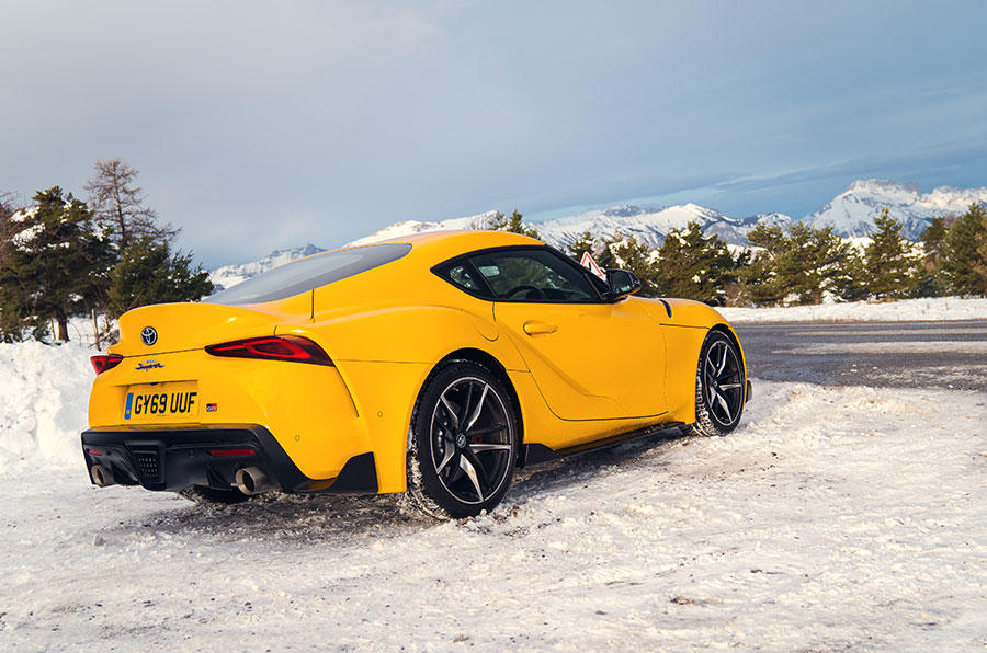 The Toyota GR Supra was comfortable and refined on the autoroute, and absolutely thrilling on twisty snowy Alpine roads
