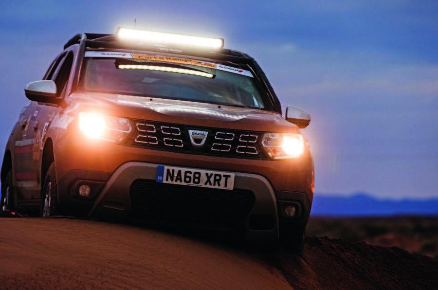 Dacia Duster in the desert