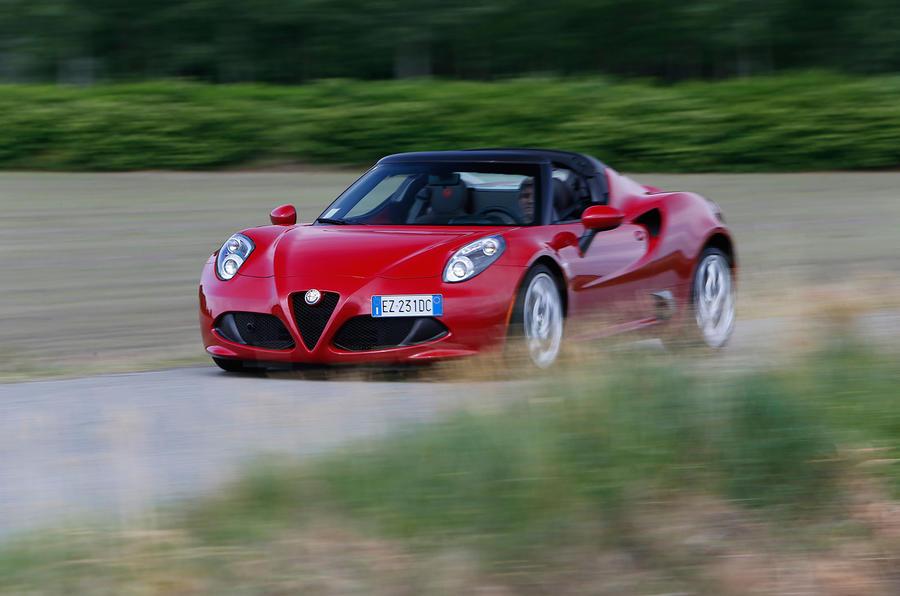 160mph Alfa Romeo 4C Spider
