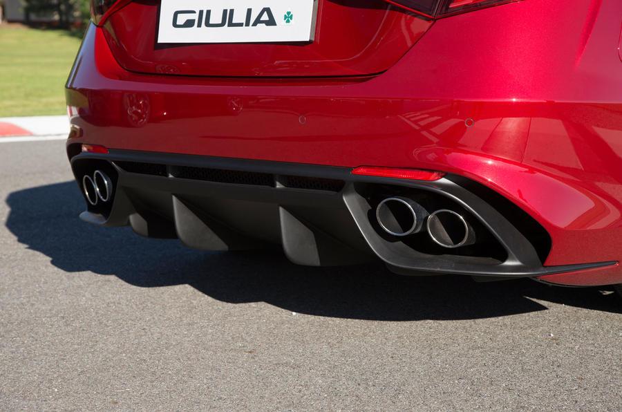 Alfa Romeo Giulia Quadrifoglio rear diffuser
