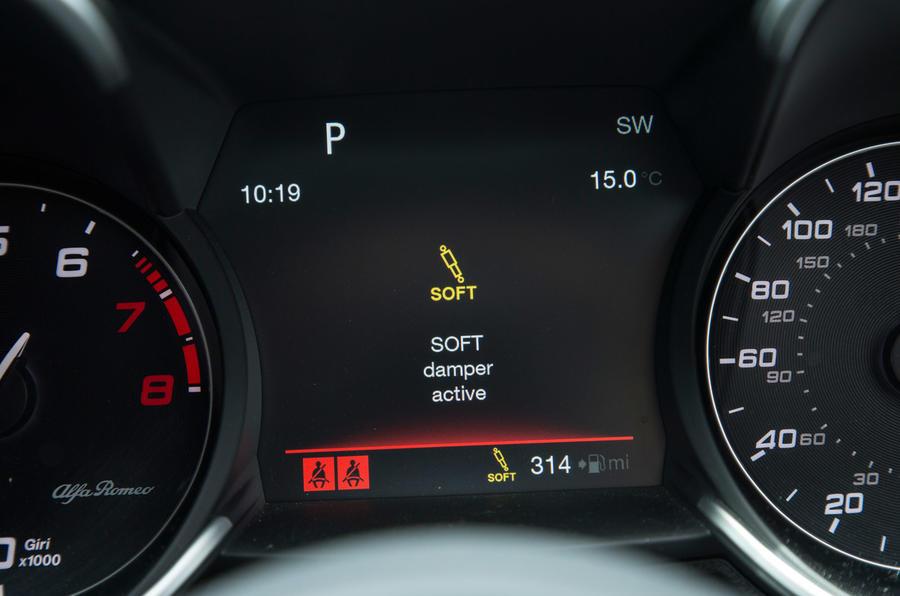 Alfa Romeo Giulia Quadrifoglio active damper control