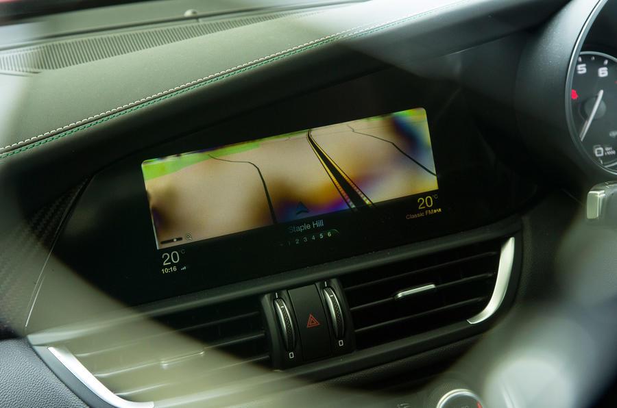 Alfa Romeo Giulia Quadrifoglio infotainment system