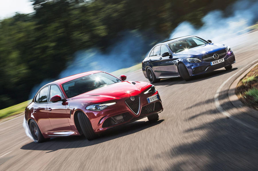 Alfa romeo giulia quadrifoglio vs mercedes amg c63 s for Alfa romeo vs mercedes benz