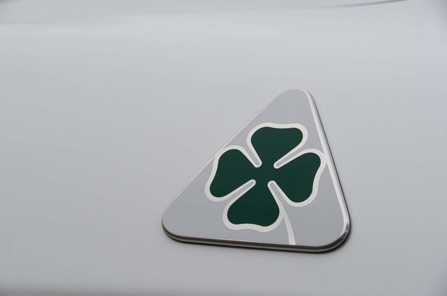 Alfa Romeo Stelvio Quadrifoglio 2018 badge