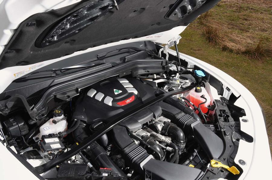 Alfa Romeo Stelvio Quadrifoglio engine