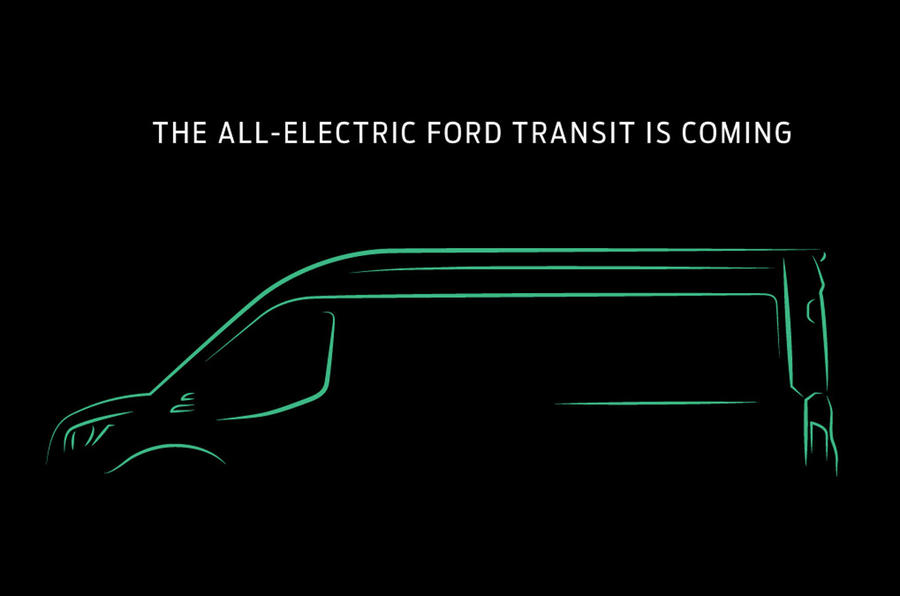 2022 electric Ford Transit preview sketch