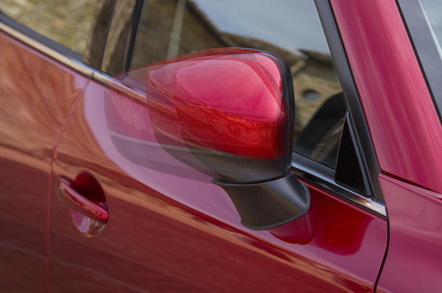 Mazda CX-5 folding wing mirrors