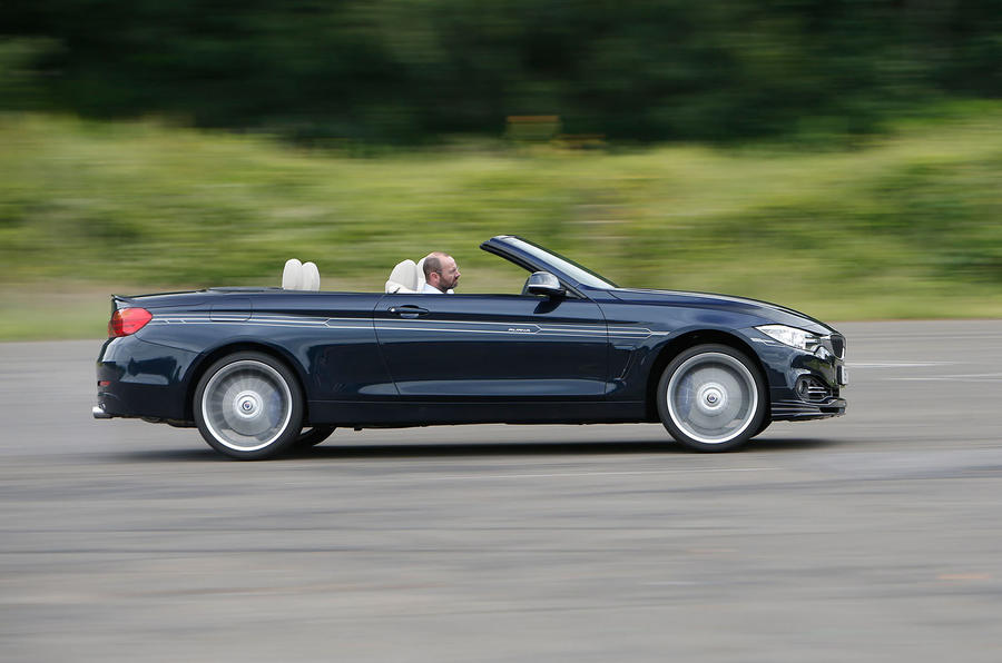Alpina B4 Biturbo Convertible roof down