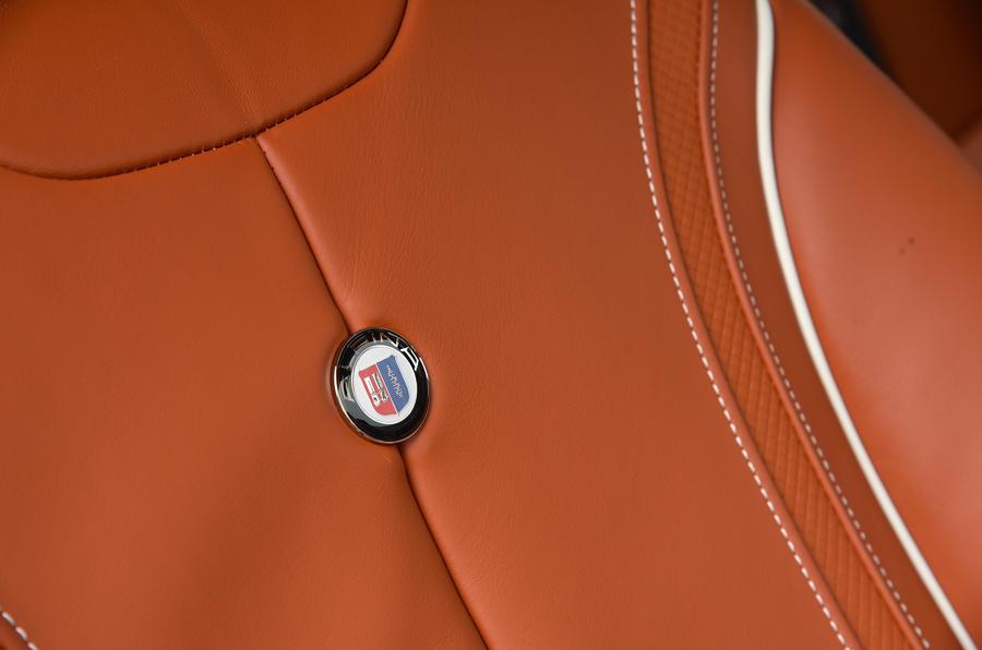 Alpina B4 S badged seats