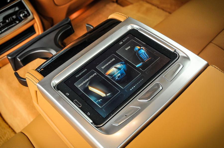 Alpina B7 rear infotainment touchscreen tablet