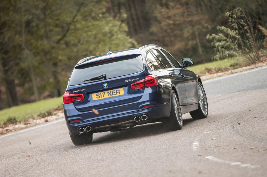 Alpina D3 Touring rear cornering