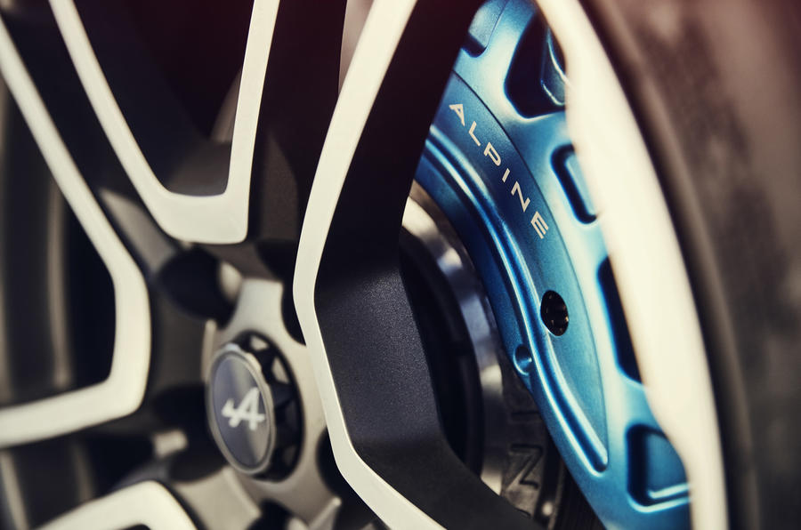 Alpine A110 blue brake calipers