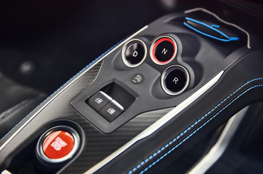 Alpine A110 centre console