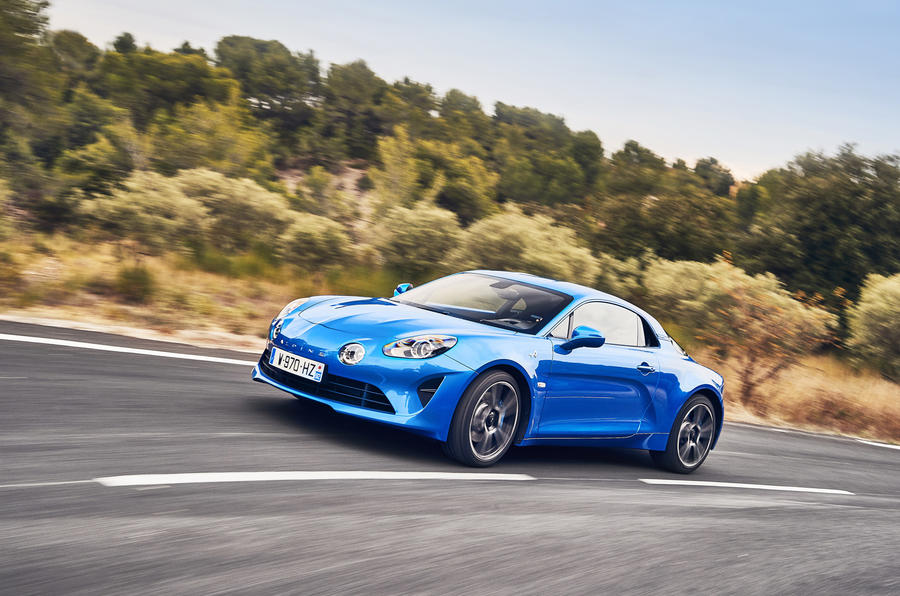 Alpine A110 cornering