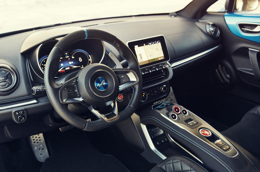 Alpine A110 dashboard
