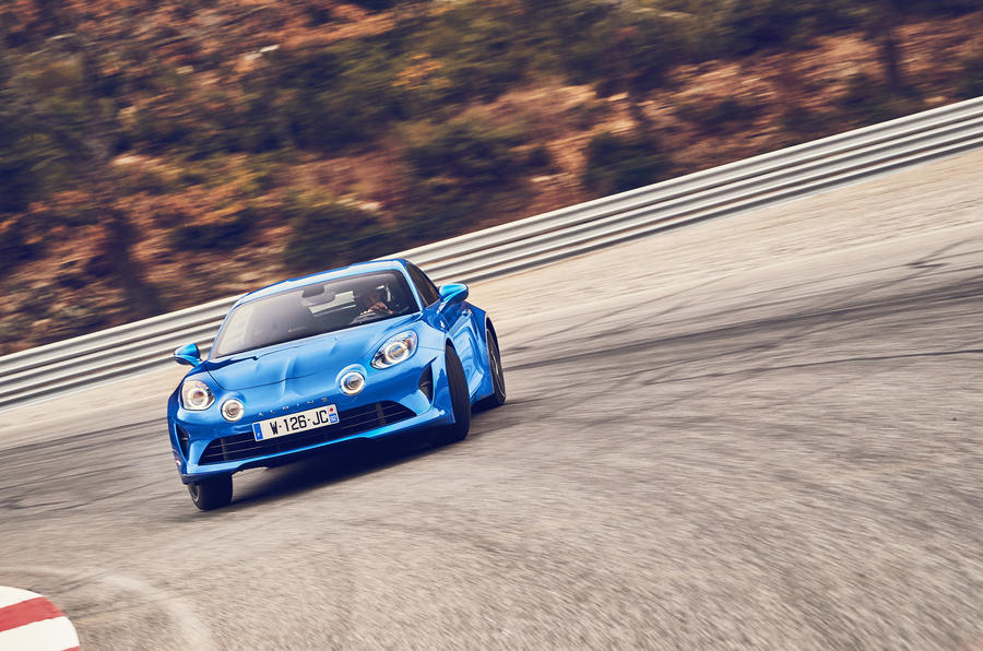 Alpine A110 drifting