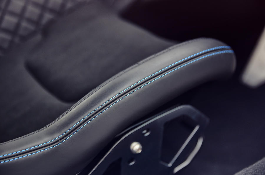 Alpine A110 leather bound bucket seats