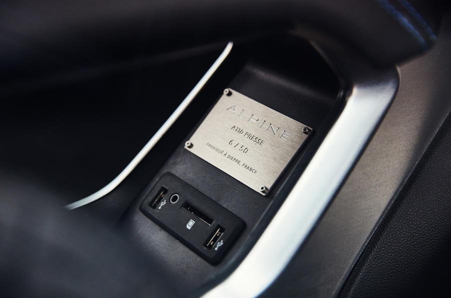 Alpine A110 plaque number