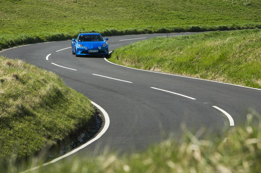 Alpine A110 2018 UK cornering