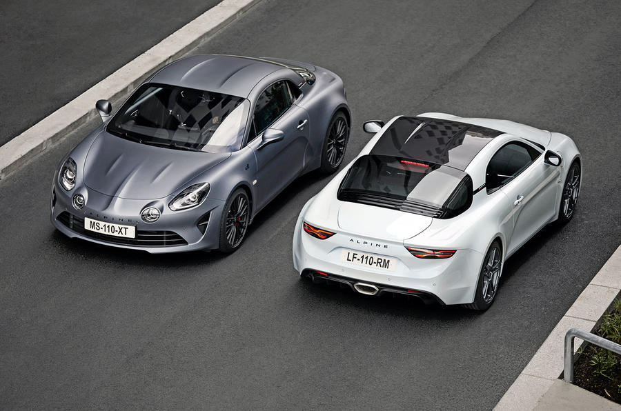 Alpine A110S - front and rear