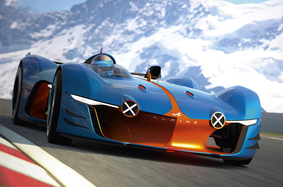 new renaultalpine racer revealed for gran turismo autocar