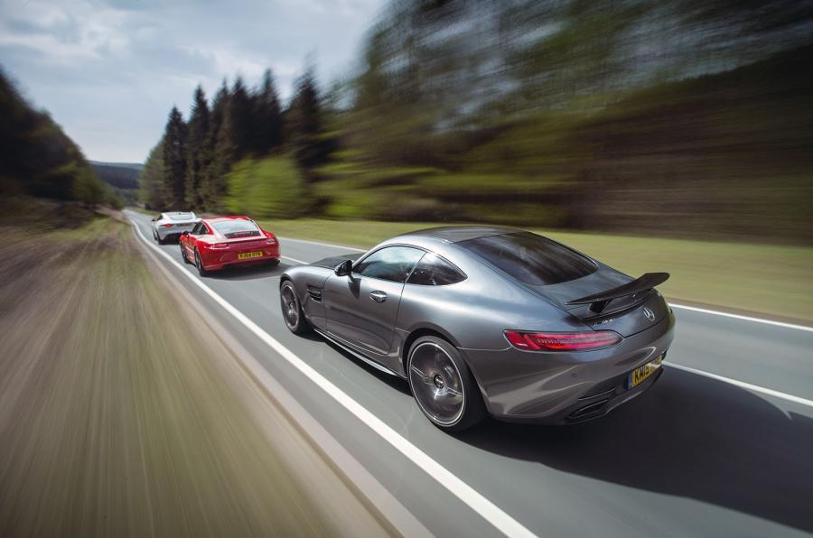 Mercedes-AMG GT S versus Porsche 911 GTS & Jaguar F-Type R Coupé