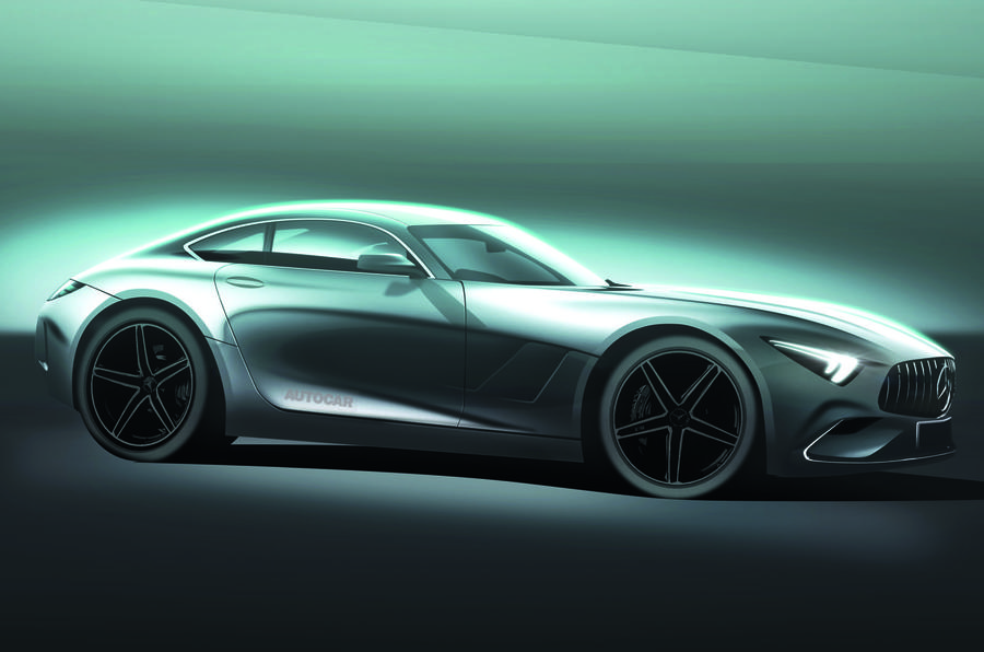 2022 Mercedes-AMG GT, as imagined by Autocar