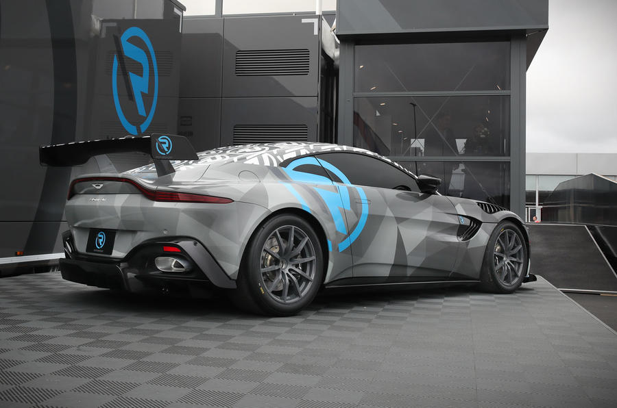 2020 Aston Martin Vantage Cup car - rear