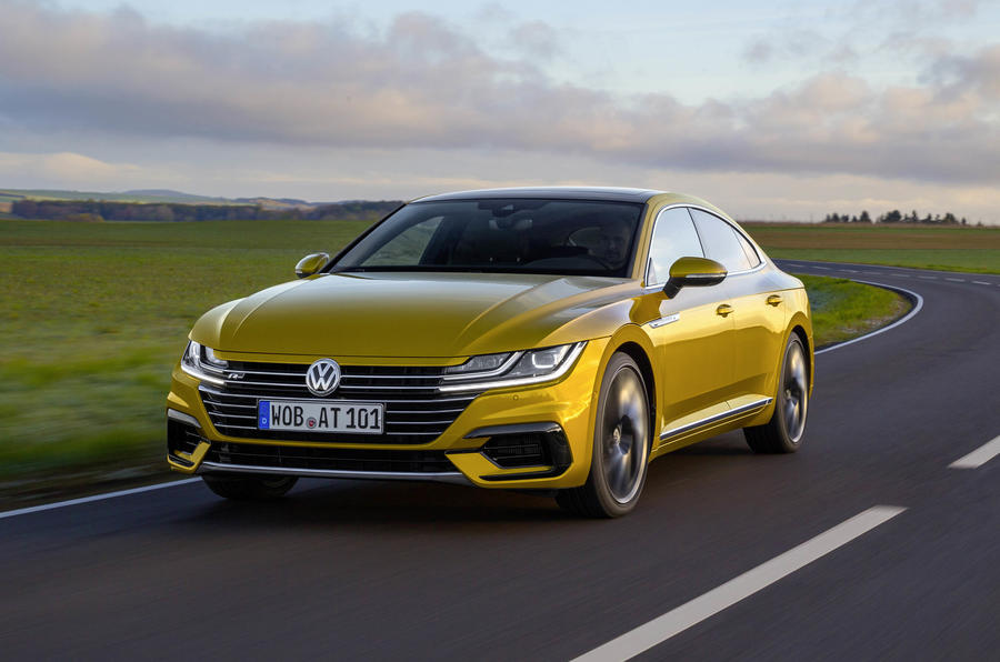 Volkswagen Arteon on the road