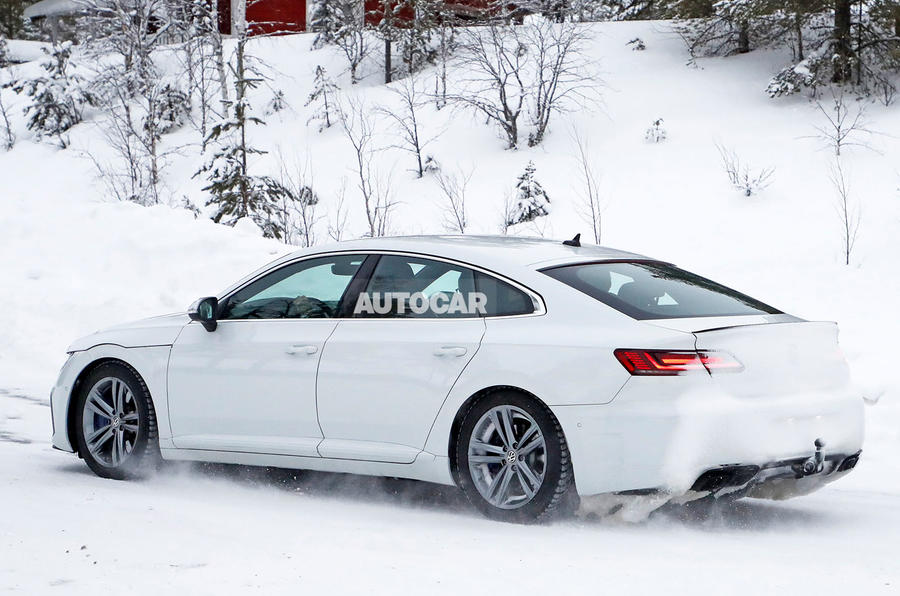 Volkswagen Arteon R spy photos - side rear