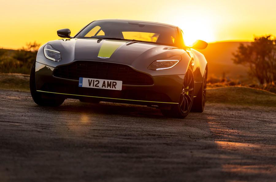 Aston Martin DB11 UK first drive sunset front