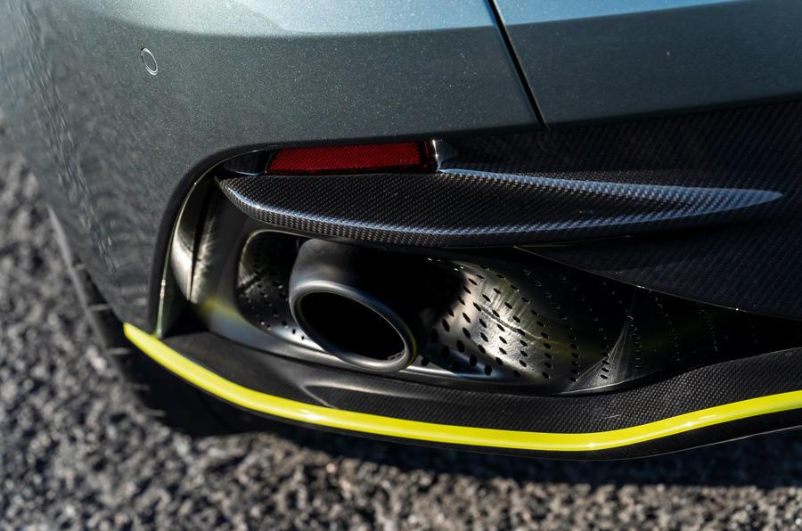 Aston Martin DB11 UK first drive exhausts