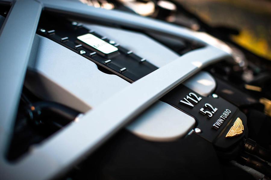 5.2-litre V12 Aston Martin engine