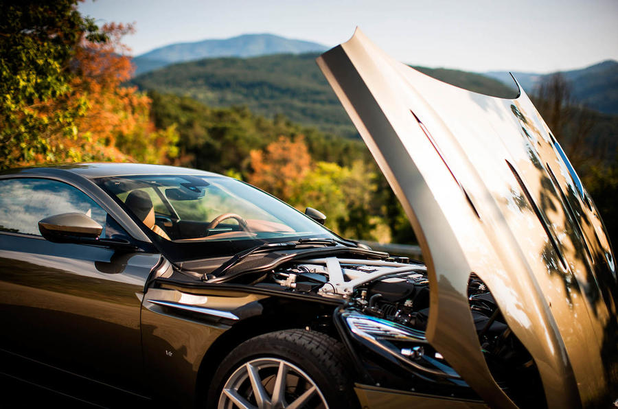 Aston Martin DB11 bonnet open