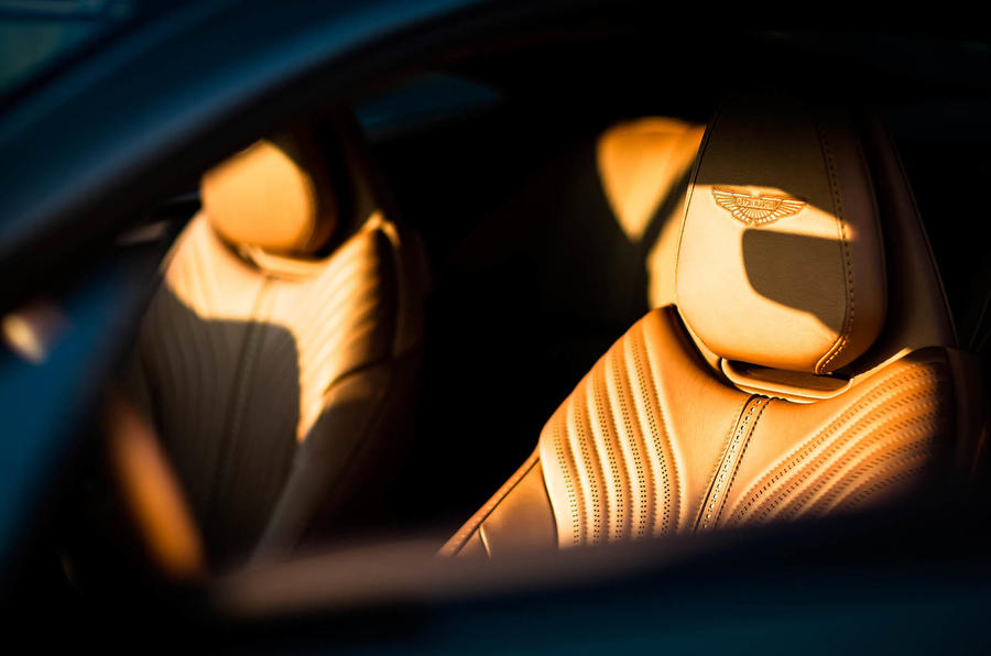 Aston Martin monogram seats